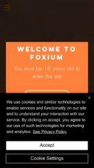Foxium mobile screenshot