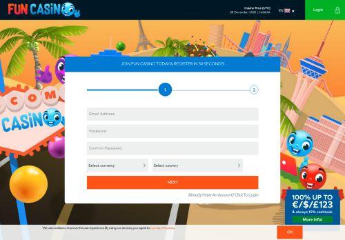 Fun Casino desktop screenshot