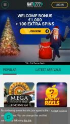 Gate777 mobile screenshot