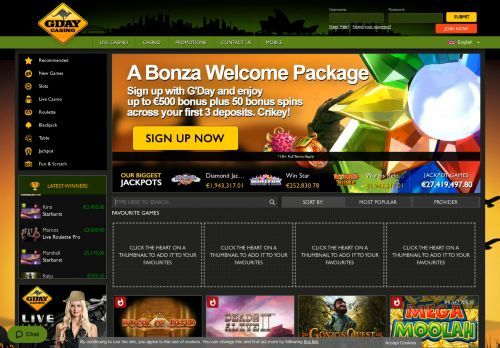 GDay desktop screenshot