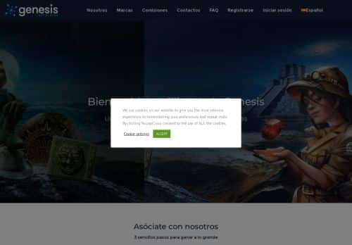 Genesis Affiliates desktop screenshot