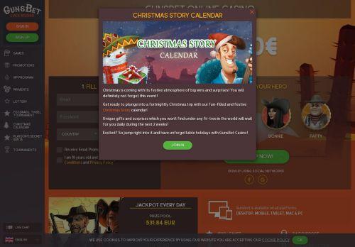 Gunsbet desktop screenshot
