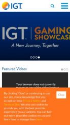 IGT mobile screenshot