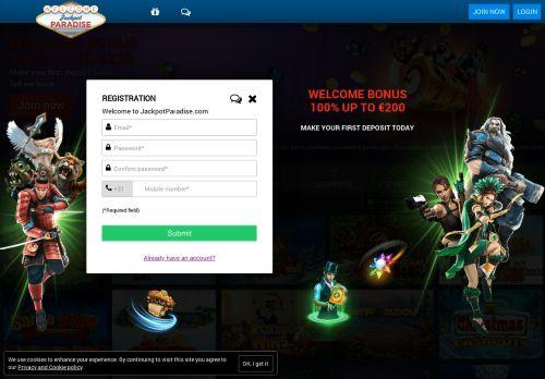 Jackpot Paradise desktop screenshot