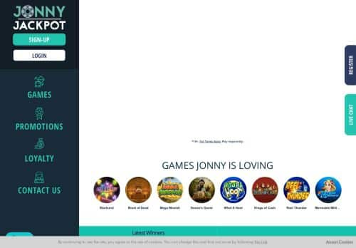 JonnyJackpot desktop screenshot
