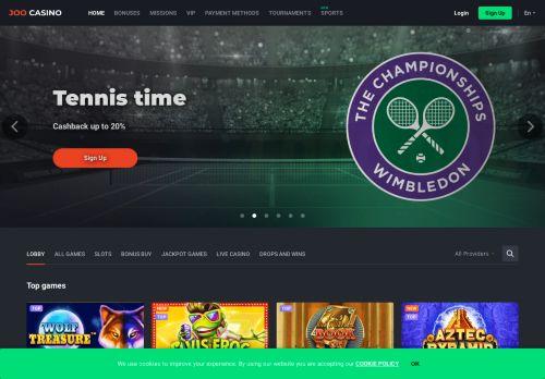 Joo Casino desktop screenshot