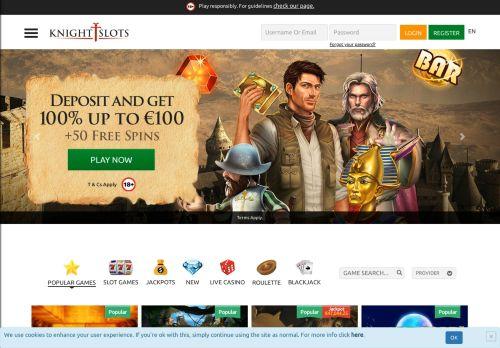KnightSlots desktop screenshot