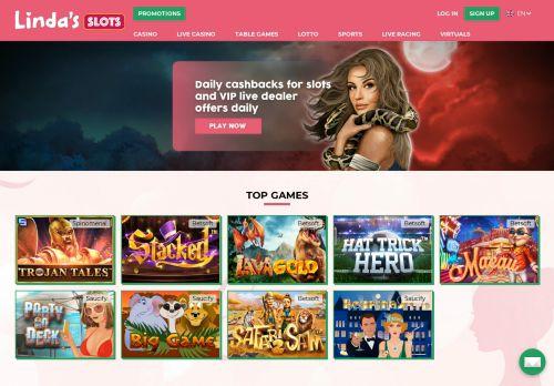 Lindas Slots desktop screenshot