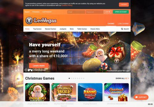 LeoVegas desktop screenshot