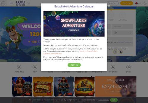 Loki Casino desktop screenshot