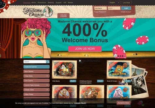 Madame Chance desktop screenshot