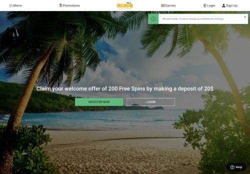 Mango Casino desktop screenshot