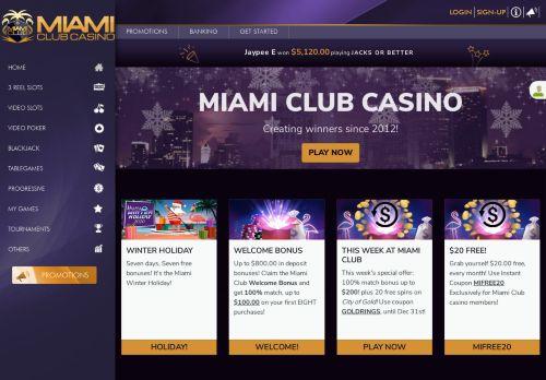 Miami Club desktop screenshot