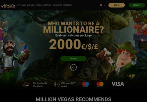 MillionVegas desktop screenshot