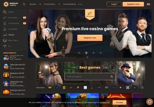 National Casino desktop screenshot