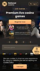 National Casino mobile screenshot