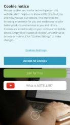 Neteller mobile screenshot