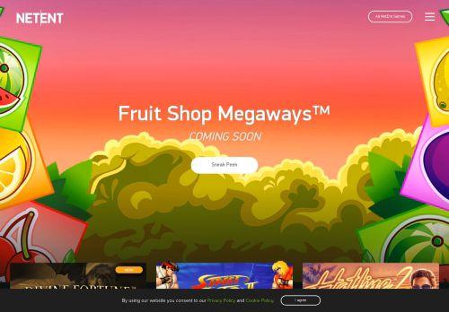 NetEnt desktop screenshot