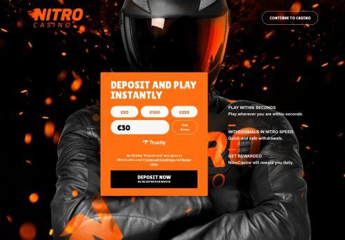 Nitro Casino desktop screenshot