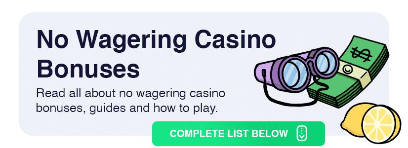 no wagering bonus