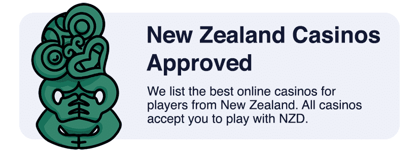 Approved online casinos in NZ