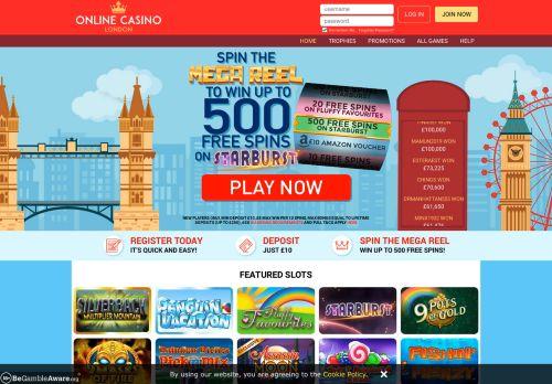 Online Casino London desktop screenshot