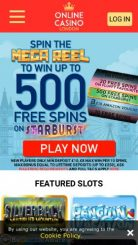 Online Casino London mobile screenshot