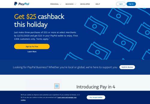 PayPal desktop screenshot