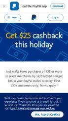 PayPal mobile screenshot