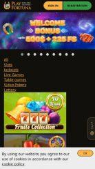 Play Fortuna mobile screenshot