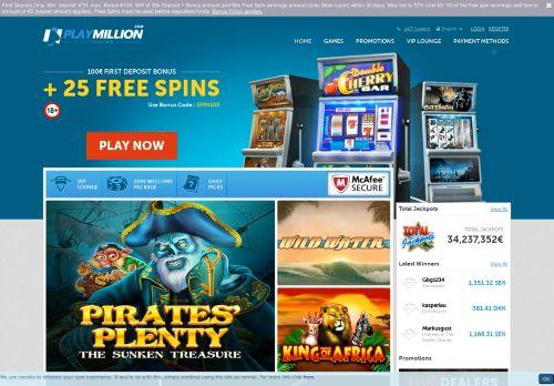 PlayMillion desktop screenshot