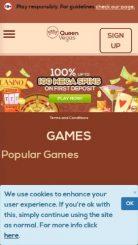 QueenVegas mobile screenshot