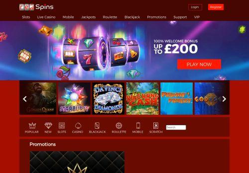 Red Spins desktop screenshot