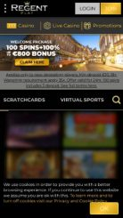 Regent Casino mobile screenshot