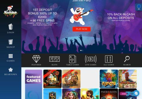 Ridika desktop screenshot