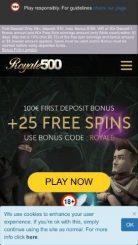 Royale500 mobile screenshot
