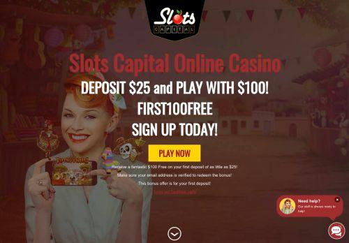 Slots Capital desktop screenshot