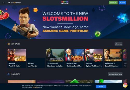 SlotsMillion desktop screenshot