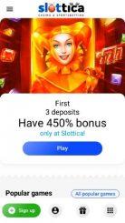 Slottica mobile screenshot