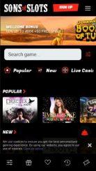 SonsOfSlots mobile screenshot