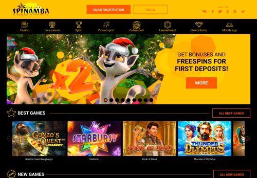 Spinamba desktop screenshot