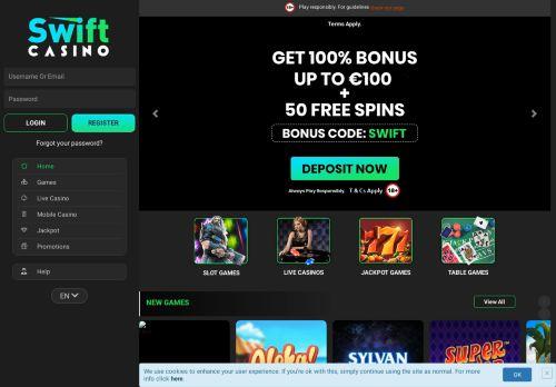 Swift Casino desktop screenshot