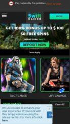 Swift Casino mobile screenshot