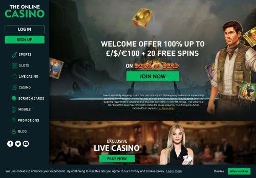 The Online Casino desktop screenshot