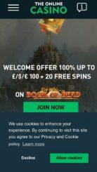 The Online Casino mobile screenshot