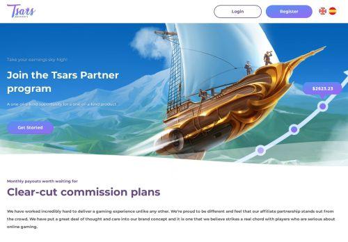 Tsars Partners desktop screenshot